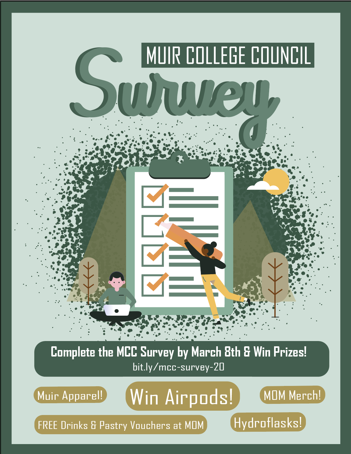 Take the MCC Survey to provide feedback to us and win big prizes! Fill it out at bit.ly/mcc-survey-20